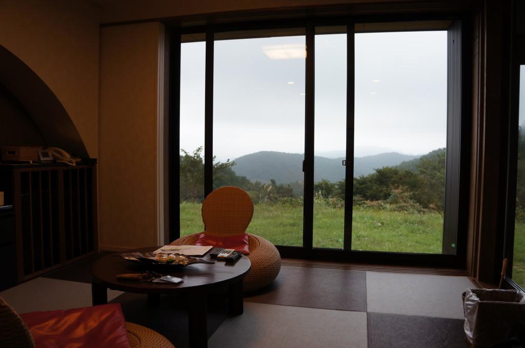 観山聴月の部屋から見る景色
