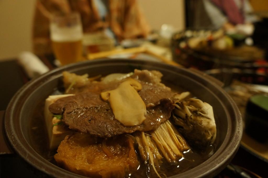 観山聴月夕食仙台和牛すき焼き
