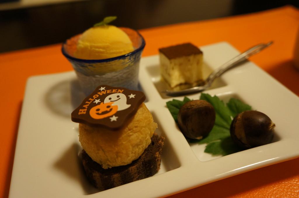 観山聴月の夕食デザート