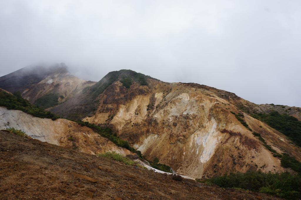 御釜中間地点からの景色