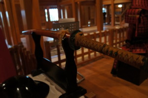 白石城天守閣にある日本刀