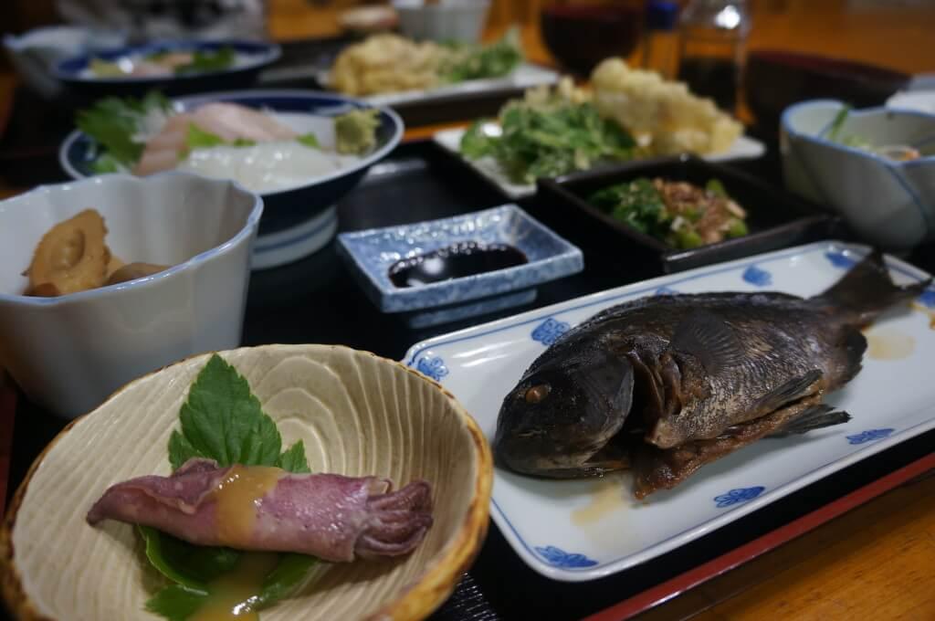 民宿遊での夕食