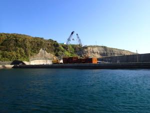 三宅島の港