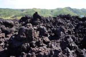三宅島の溶岩