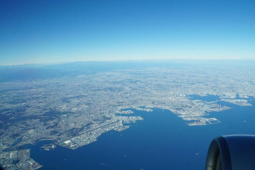 羽田空港離陸後の景色