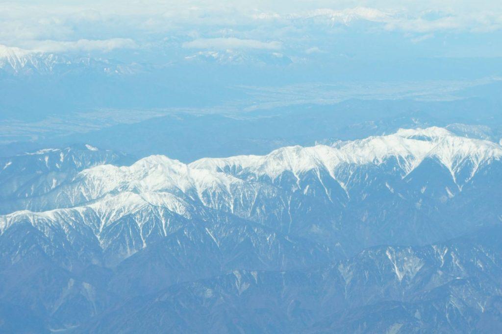 冠雪した峰