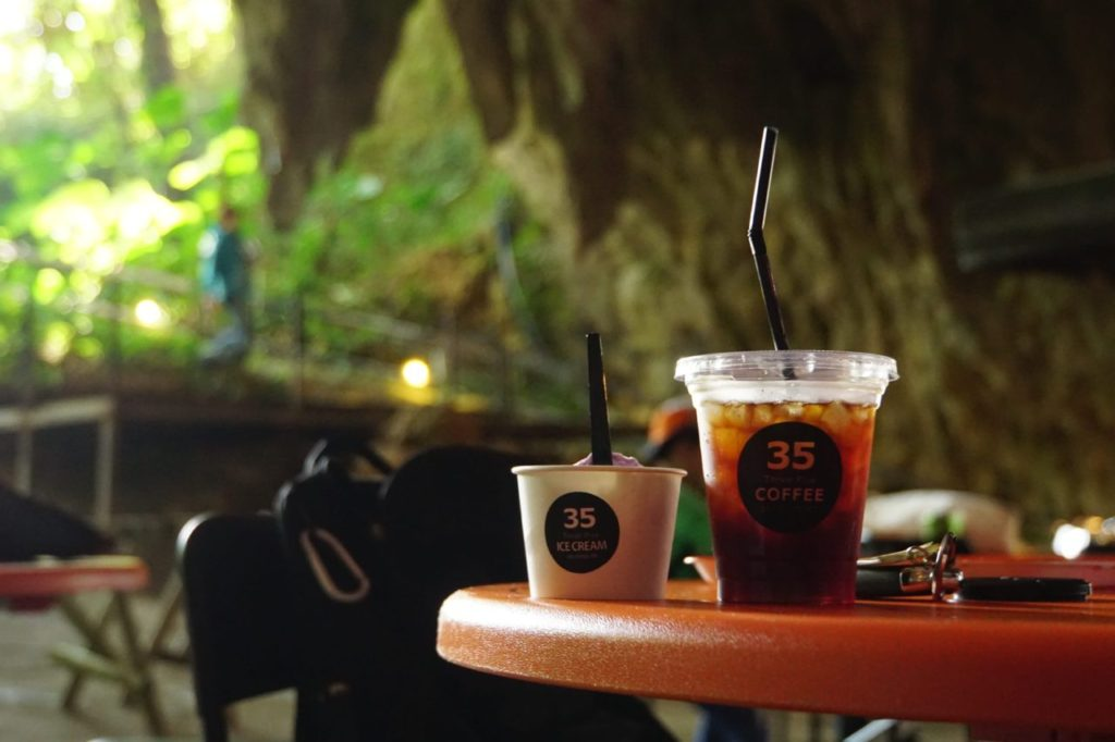 CAVE CAFEでコーヒーフロートを楽しむ