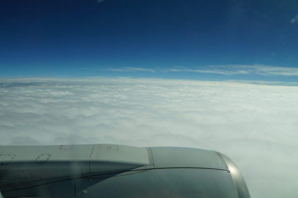 石垣島への飛行機から見た雲海