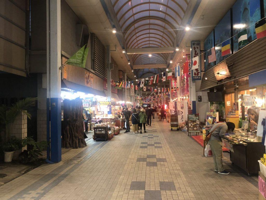 石垣島市街地のアーケード