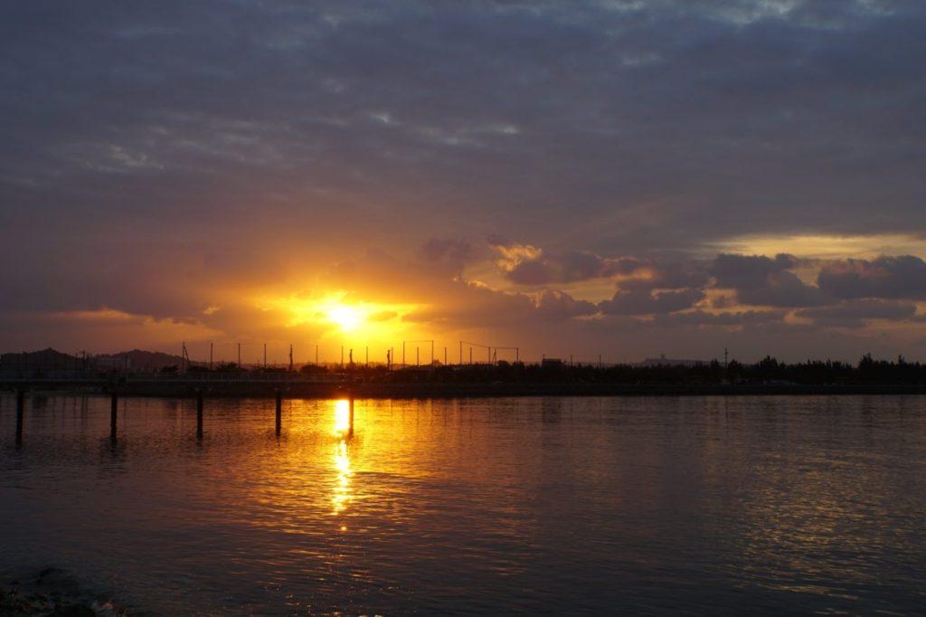 瀬長島からの朝日