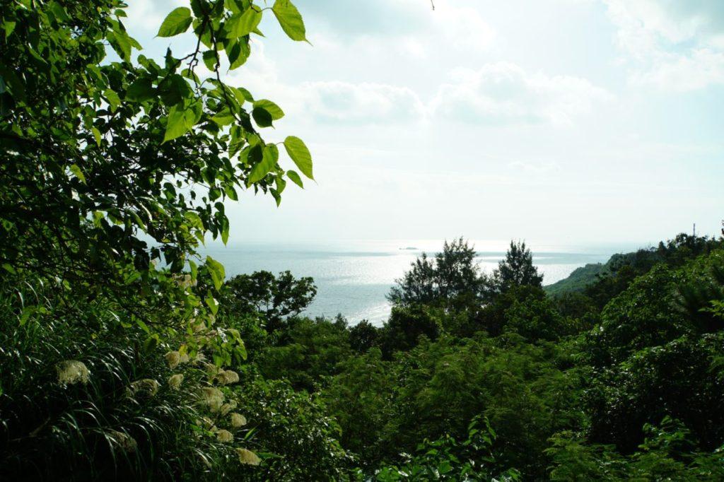 斎場御嶽から見た海