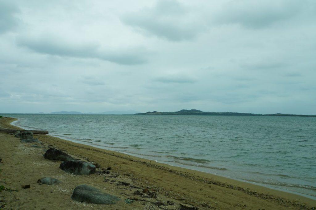 由布島茶屋前の海