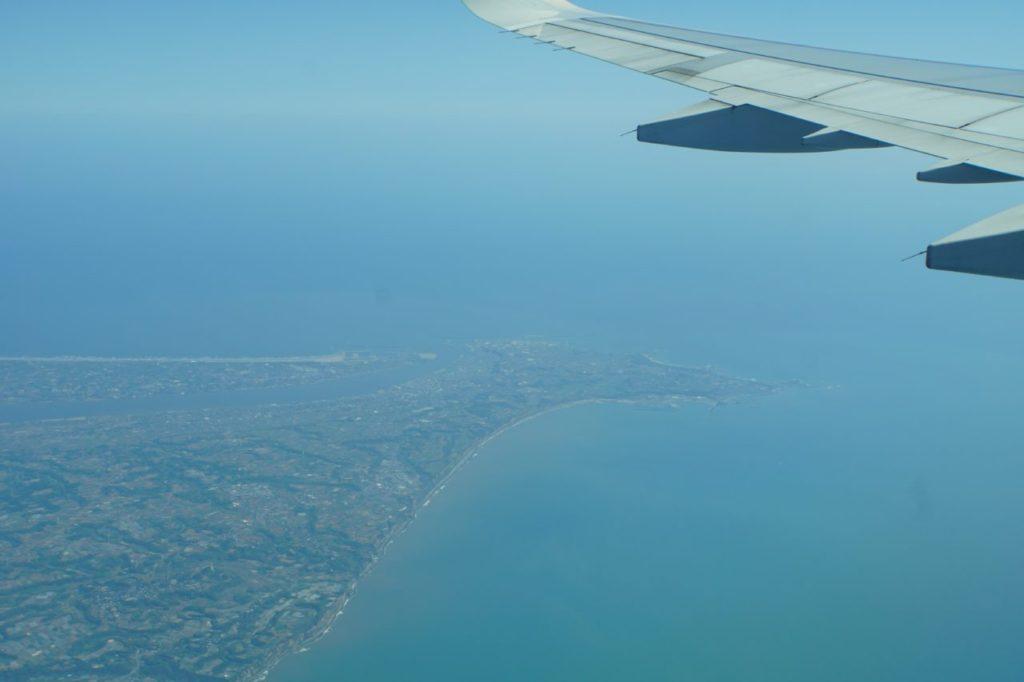 飛行機から見る銚子半島
