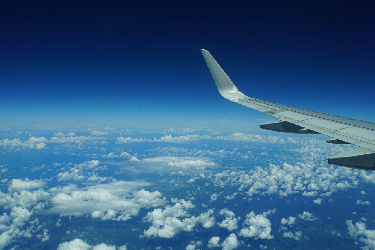 セブ島行きフィリピン航空から見た太平洋