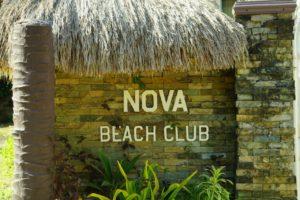 ノバビーチリゾートの入り口