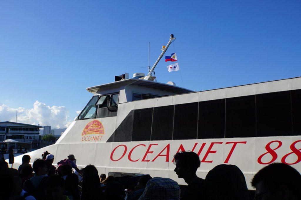 セブ港発のオーシャンジェット
