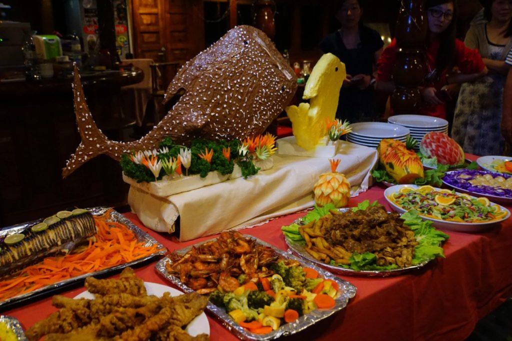 アイランドサファリで過ごした大みそかに振舞われた豪華なディナー