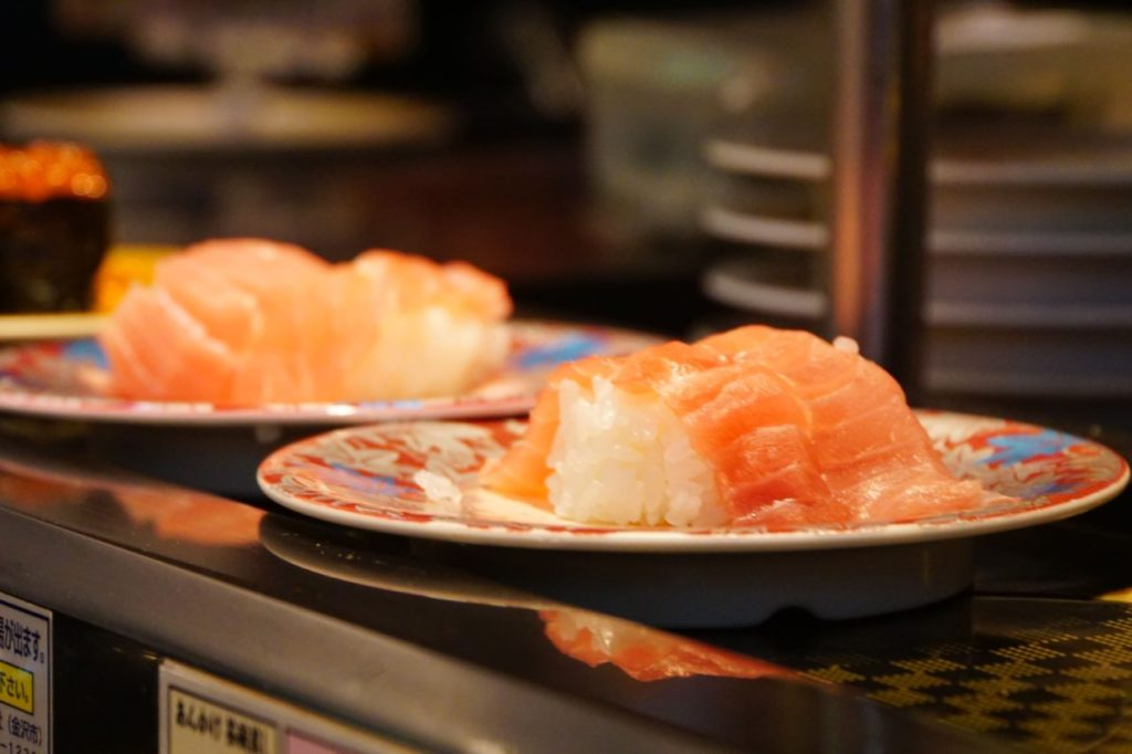 成田空港の元祖寿司のお寿司