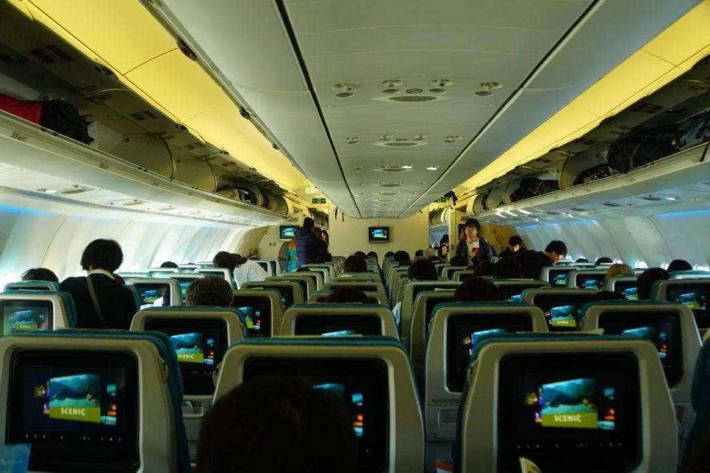 スリランカ航空の飛行機の中の様子