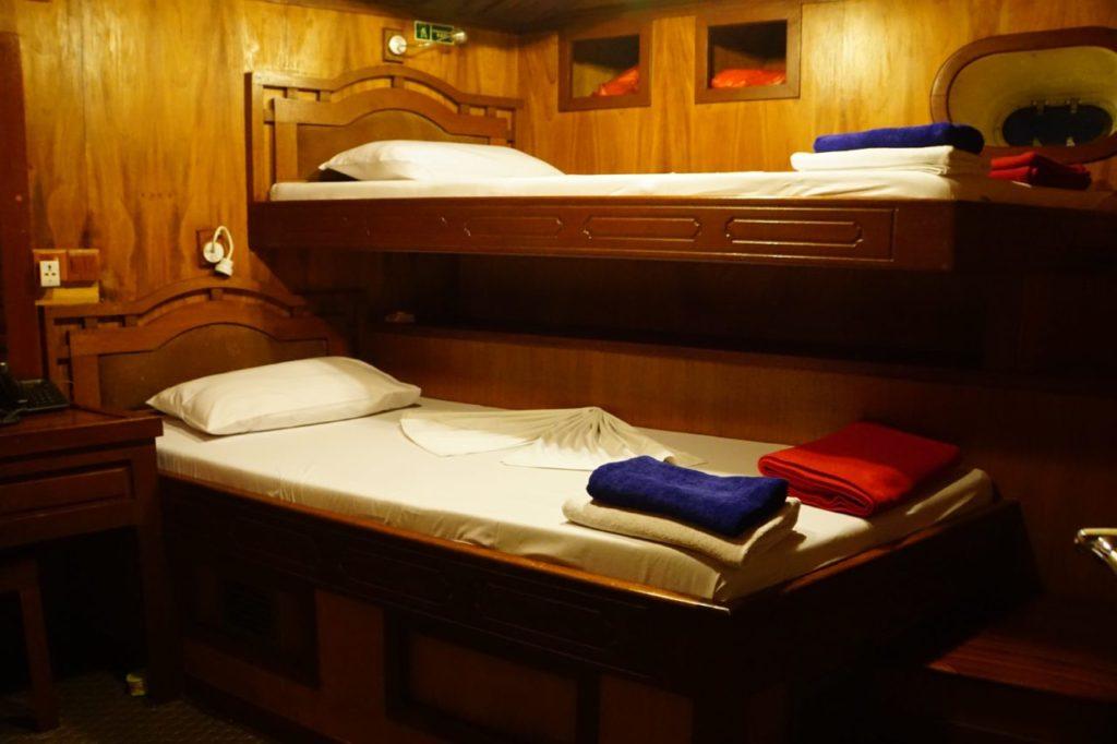 アイランドサファリの客室のベッド