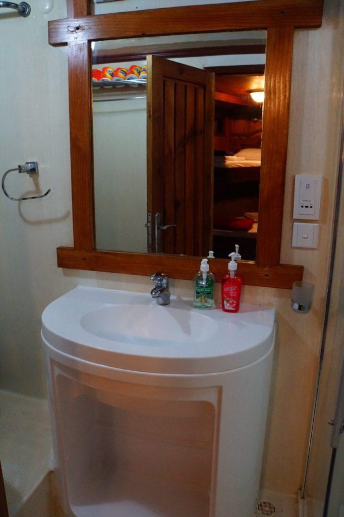 アイランドサファリの客室の洗面台