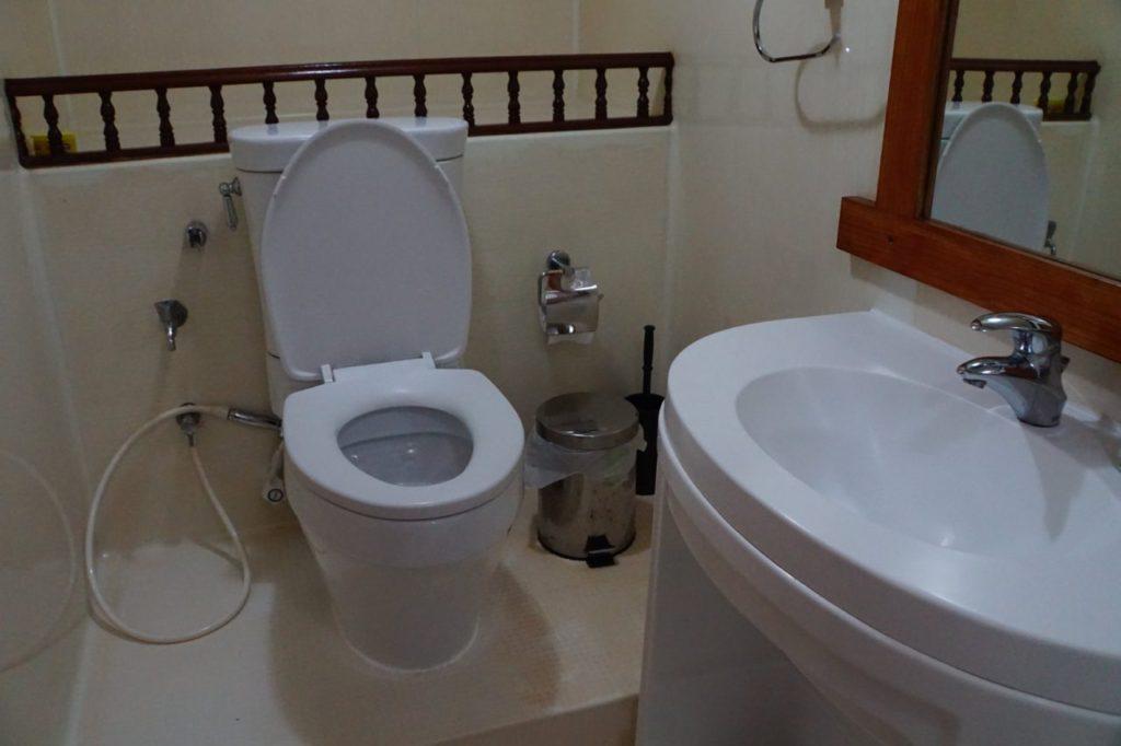 アイランドサファリの客室のトイレ