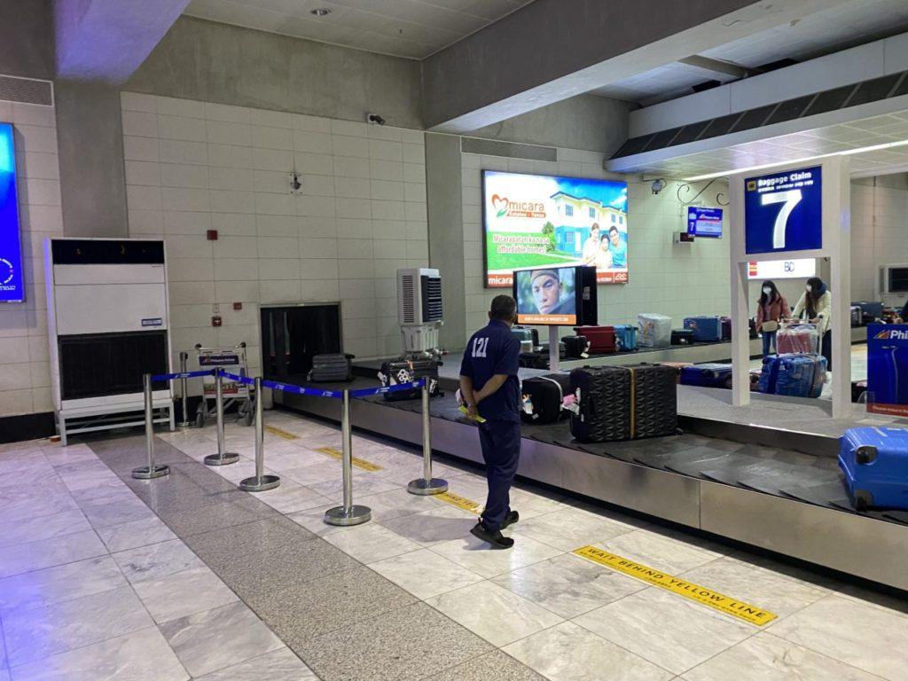 マニラ空港のターンテーブル