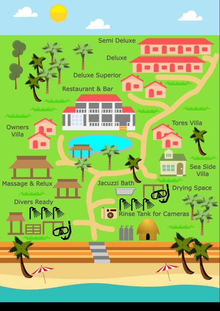 ノバビーチの全体マップ