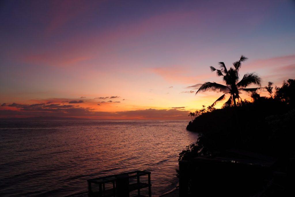 ノバビーチから眺める美しい夕焼け