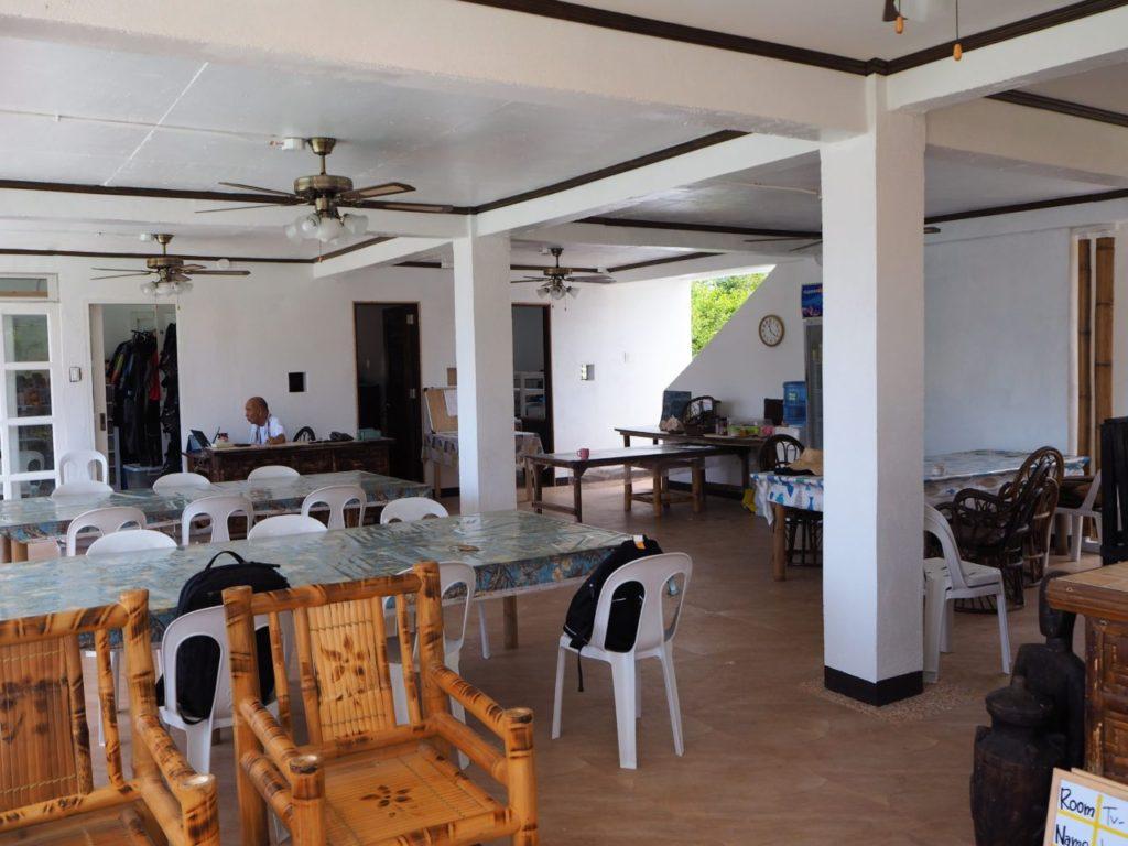 ノバビーチのレストラン内部