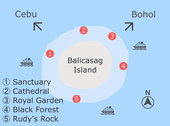 バリカサグ島のダイビングサイト